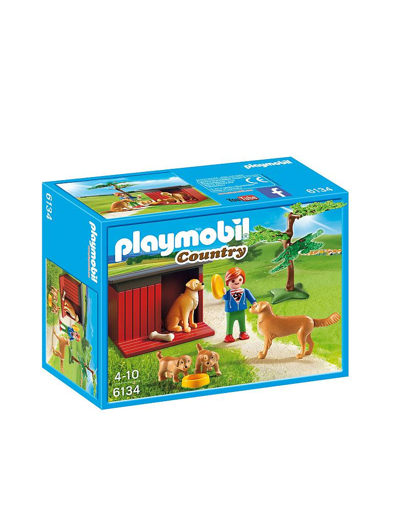 PLAYMOBIL | Golden Retriever mit Welpen | transparent