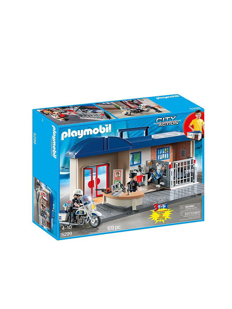 PLAYMOBIL | Mitnehm-Polizeizentrale | transparent