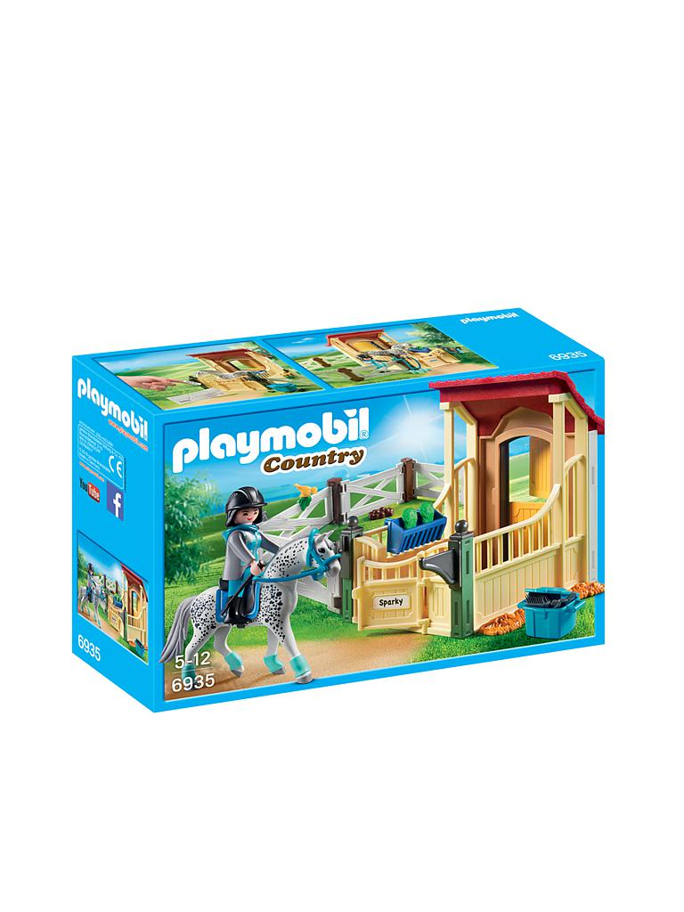 PLAYMOBIL | Pferdebox Appaloosa 6935 | transparent