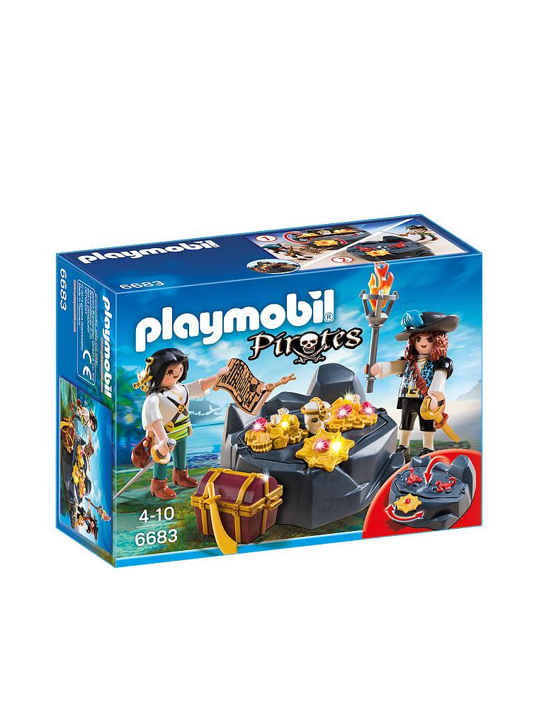 PLAYMOBIL | Pirates - Piratenschatzversteck 6683  | transparent