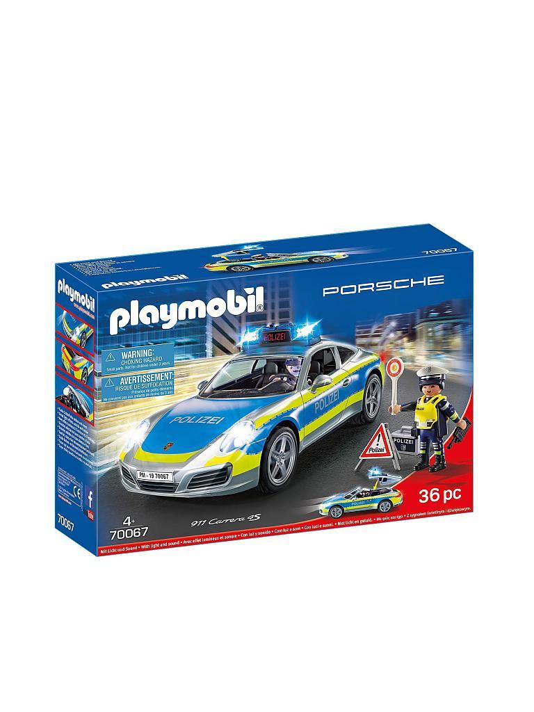 playmobil porsche 911 carrera 4s polizei 70067 blau. Black Bedroom Furniture Sets. Home Design Ideas
