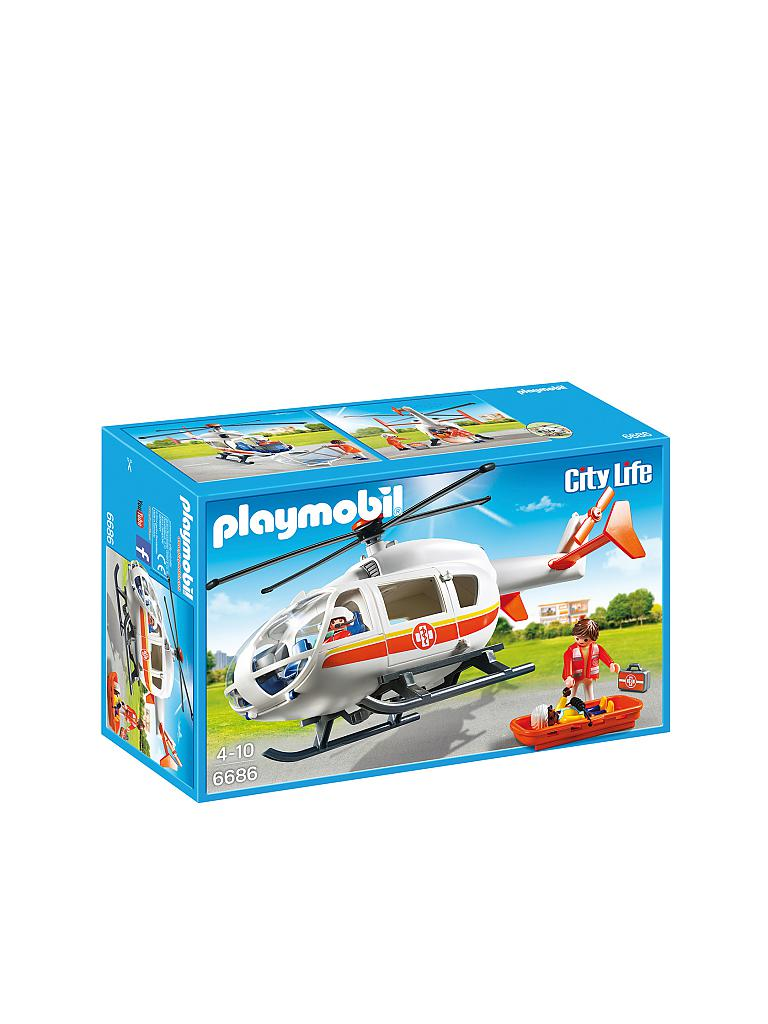 PLAYMOBIL | Rettungshelikopter | transparent