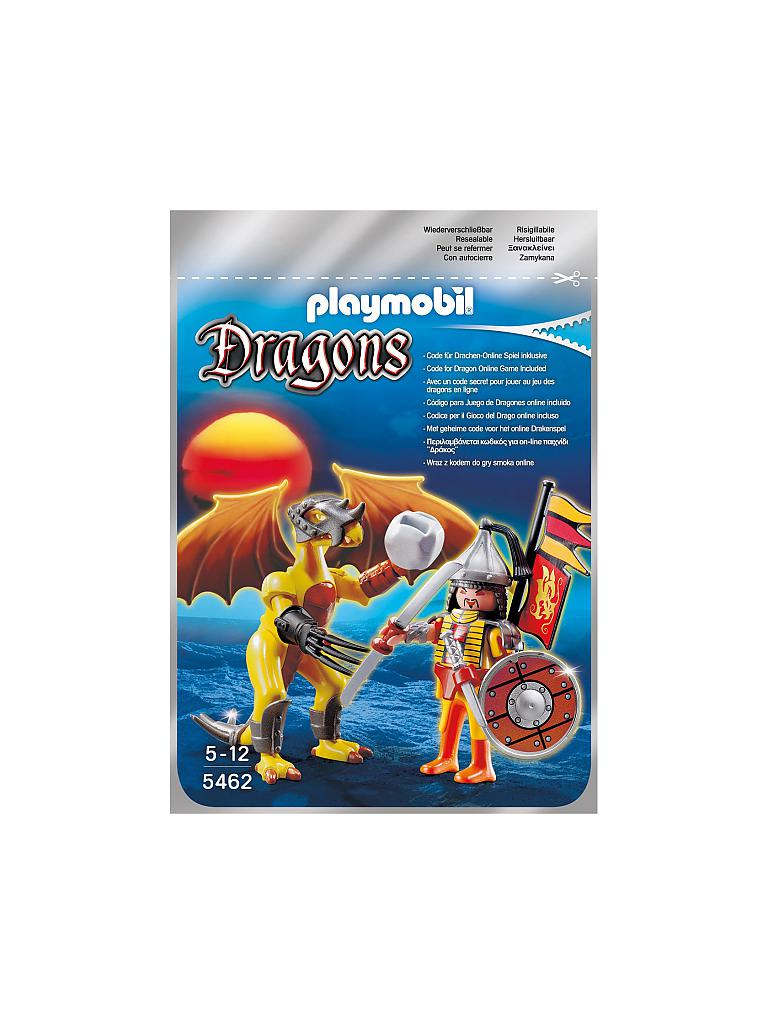 PLAYMOBIL | Rock Dragon mit Kämpfer | transparent