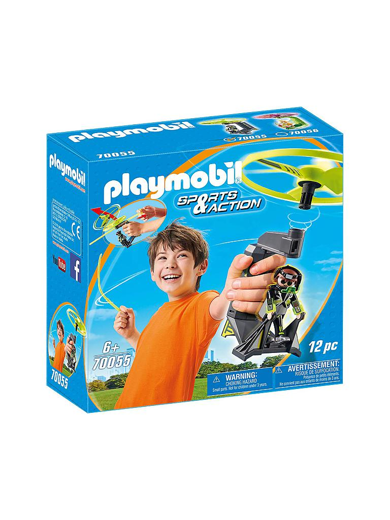 PLAYMOBIL | Top Agents Pull String Flyer 70055 | blau