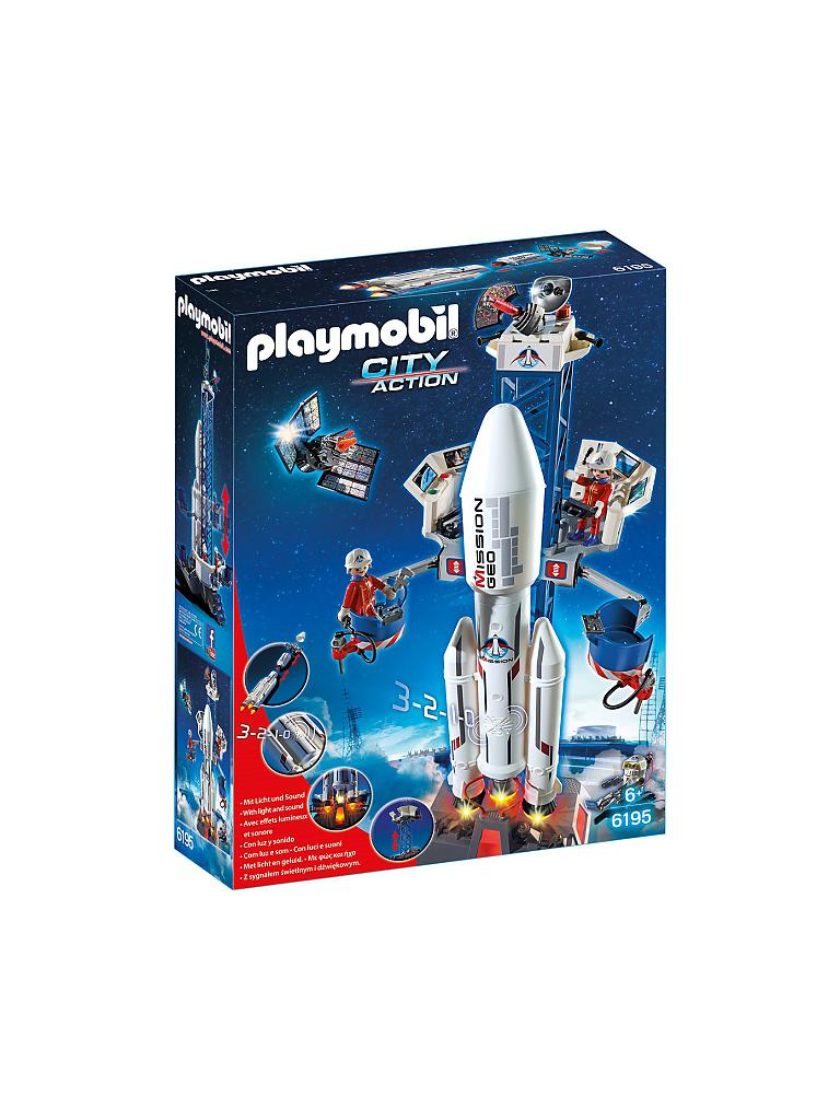 PLAYMOBIL | Weltraumrakete mit Basisstation | transparent