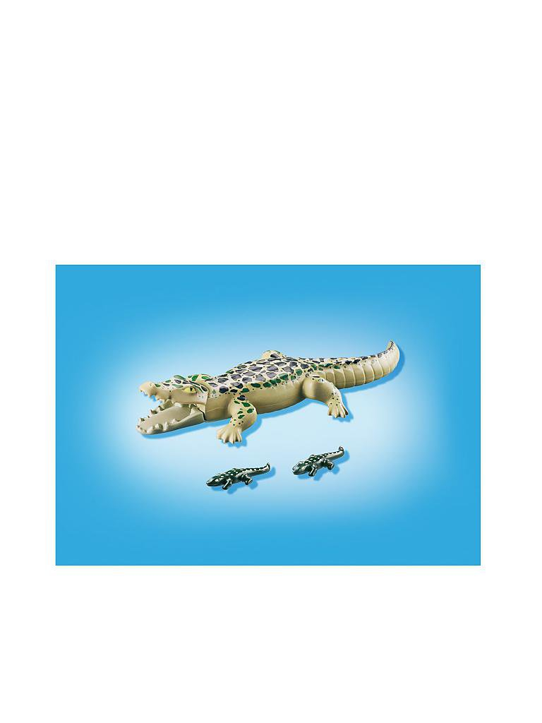 PLAYMOBIL | Wild Life - Alligator mit Baby 6644 | transparent