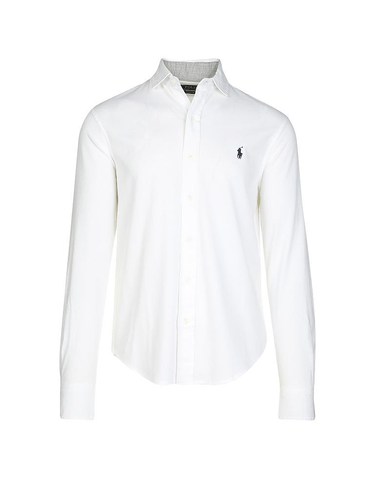 9eb9dd4ebff0 POLO RALPH LAUREN Polohemd Slim-Fit weiß   L