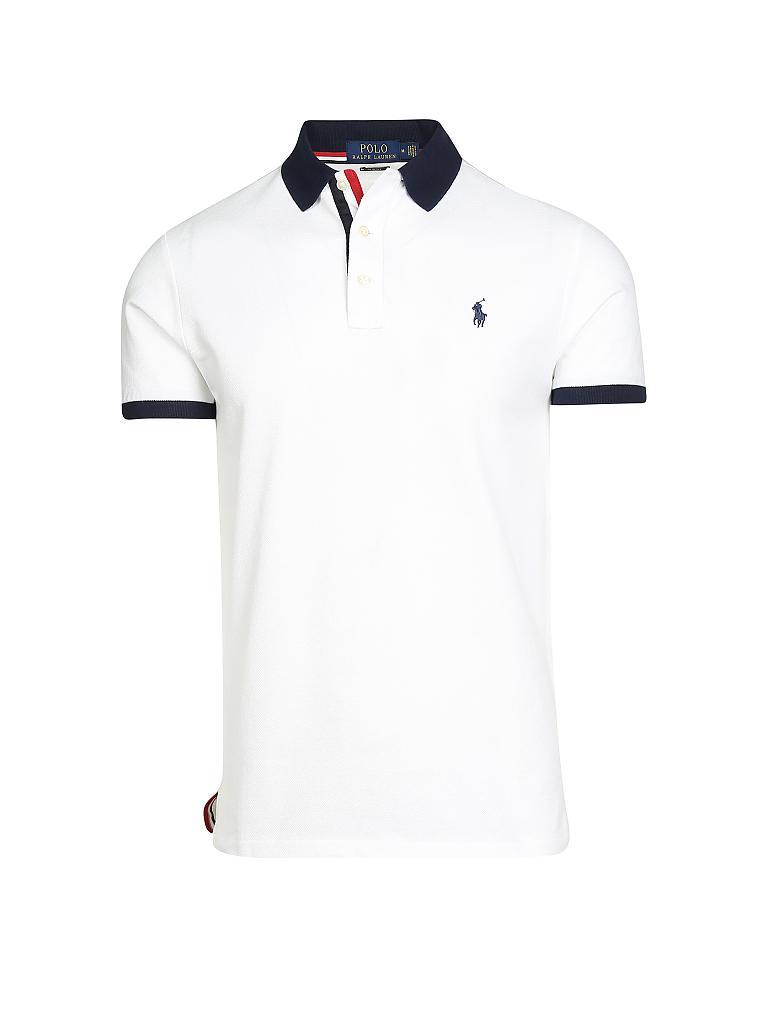 109ce3a6487c5f POLO RALPH LAUREN Poloshirt Slim-Fit weiß