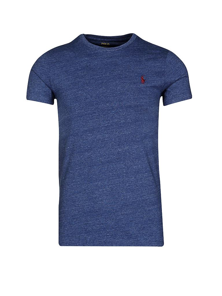 Polo ralph lauren t shirt custom fit blau s for Polo custom fit t shirts