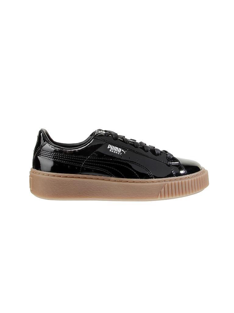 puma lack sneaker basket platform schwarz 36. Black Bedroom Furniture Sets. Home Design Ideas