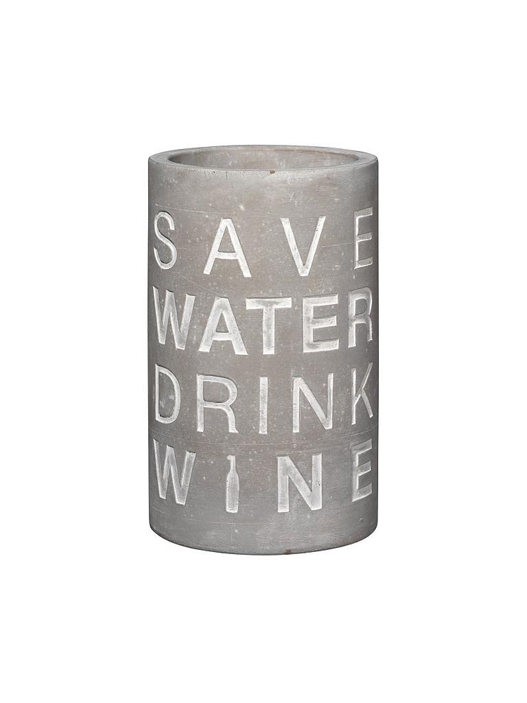 räder Flaschenkühler Vino Beton Save water drink wine 21 cm