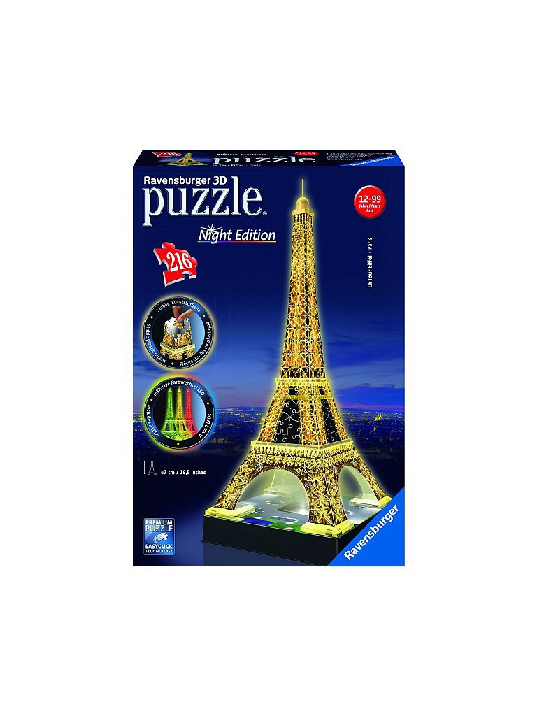 RAVENSBURGER 3D Puzzle - Eiffelturm Night Edition 216 Teile