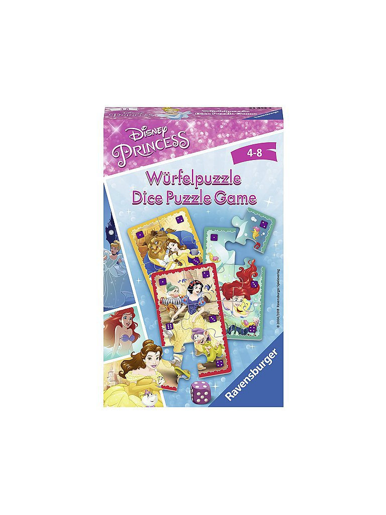 ravensburger mitbringspiel - disney princess würfelpuzzle