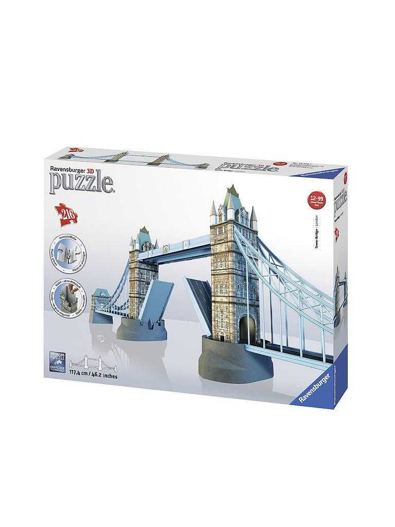 RAVENSBURGER | 3D Puzzle - Tower Bridge London 216 Teile  | transparent