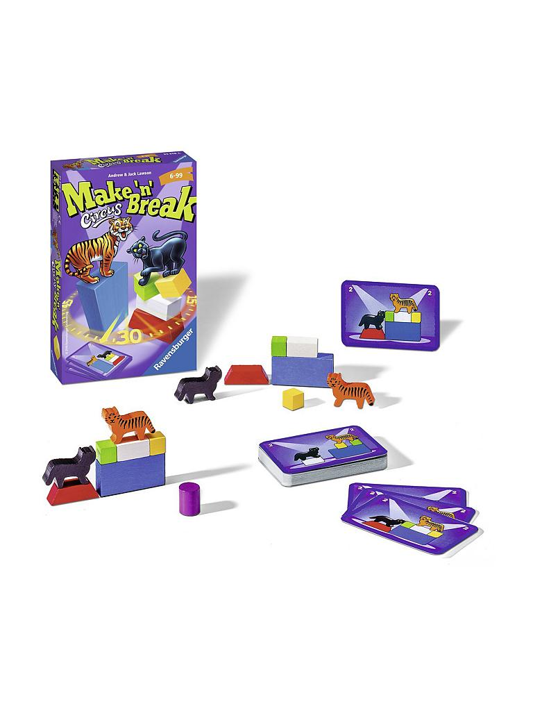 RAVENSBURGER | Make n Break Circus - Mitbringspiel  | transparent