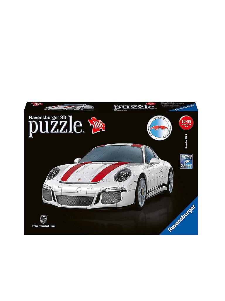 90c8eaf5e RAVENSBURGER | Porsche 911 R 3D-Puzzle 12528 (108 Teile) | transparent