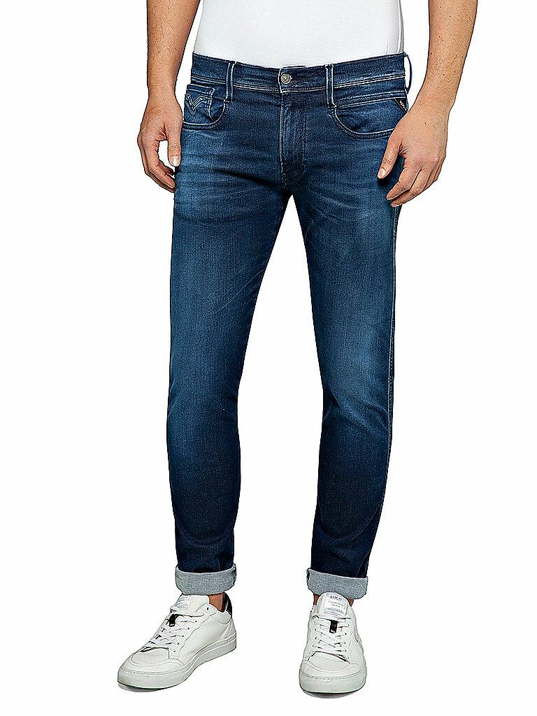 Replay Jeans Slim-Fit Anbass - Hyperflex Clouds Blau | W29/L32