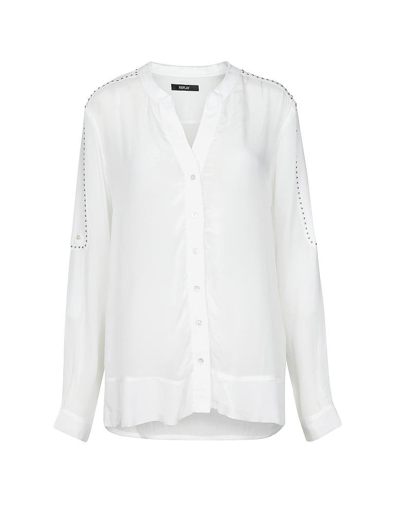 replay bluse weiß