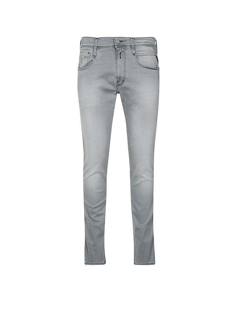 replay jeans slim fit anbass hyperflex grau w32 l32. Black Bedroom Furniture Sets. Home Design Ideas