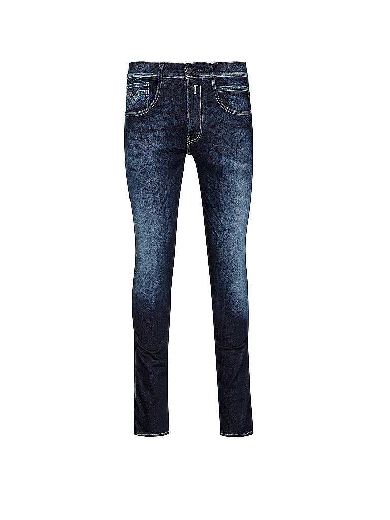 replay jeans slim fit anbass hyperflex blau w28 l32. Black Bedroom Furniture Sets. Home Design Ideas