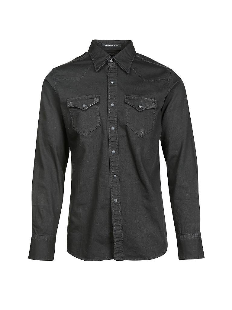replay jeanshemd schwarz s. Black Bedroom Furniture Sets. Home Design Ideas