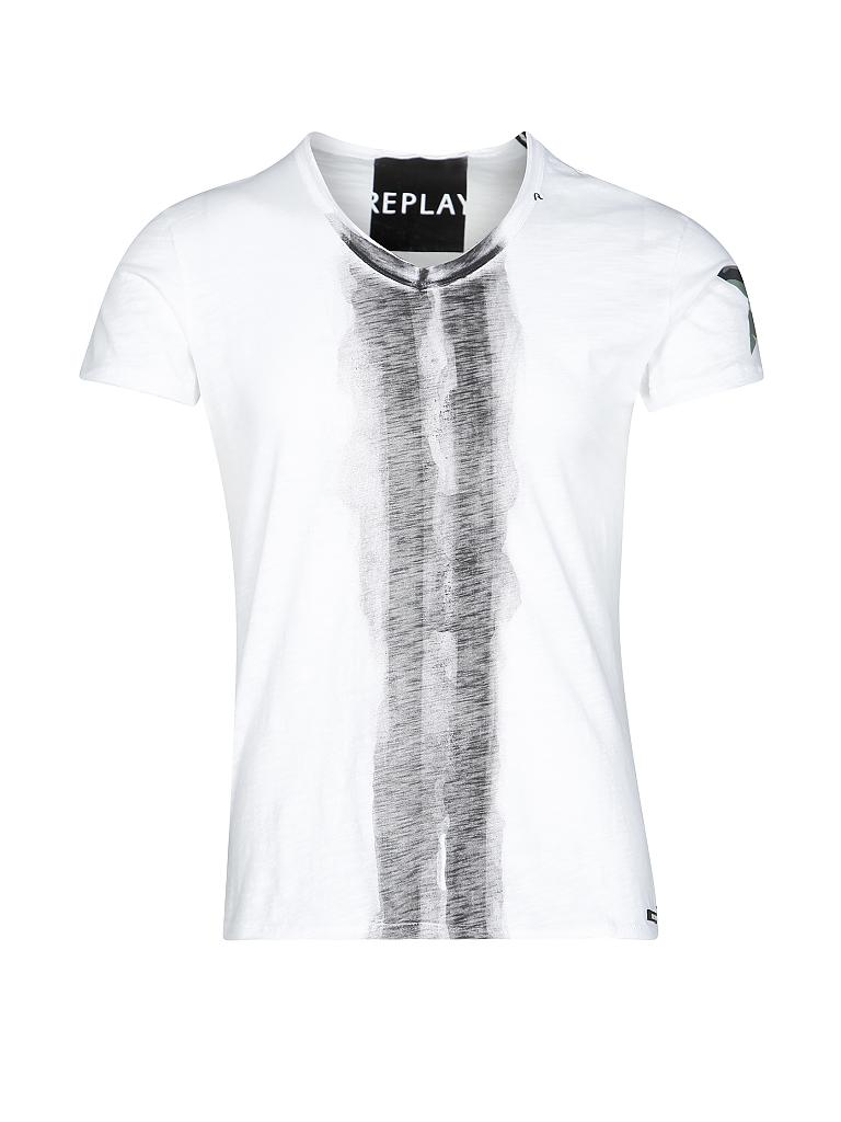 REPLAY | T-Shirt | weiß