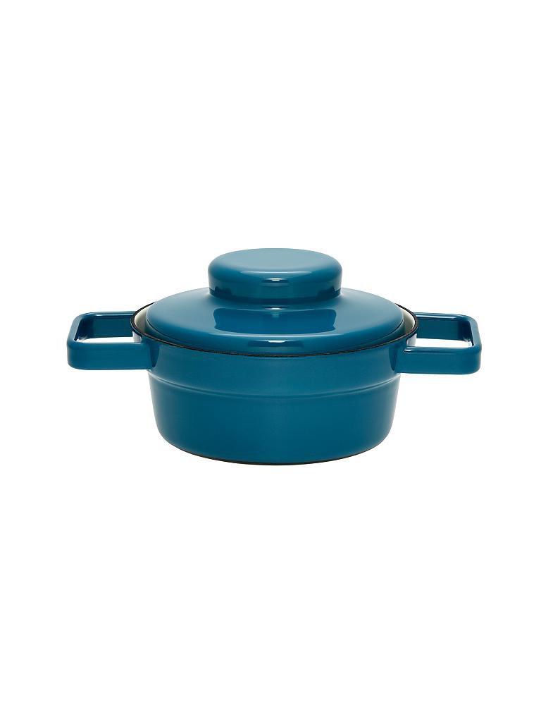 riess emaille kasserolle mit deckel aromapot truehomeware 16cm 0 5l blau. Black Bedroom Furniture Sets. Home Design Ideas