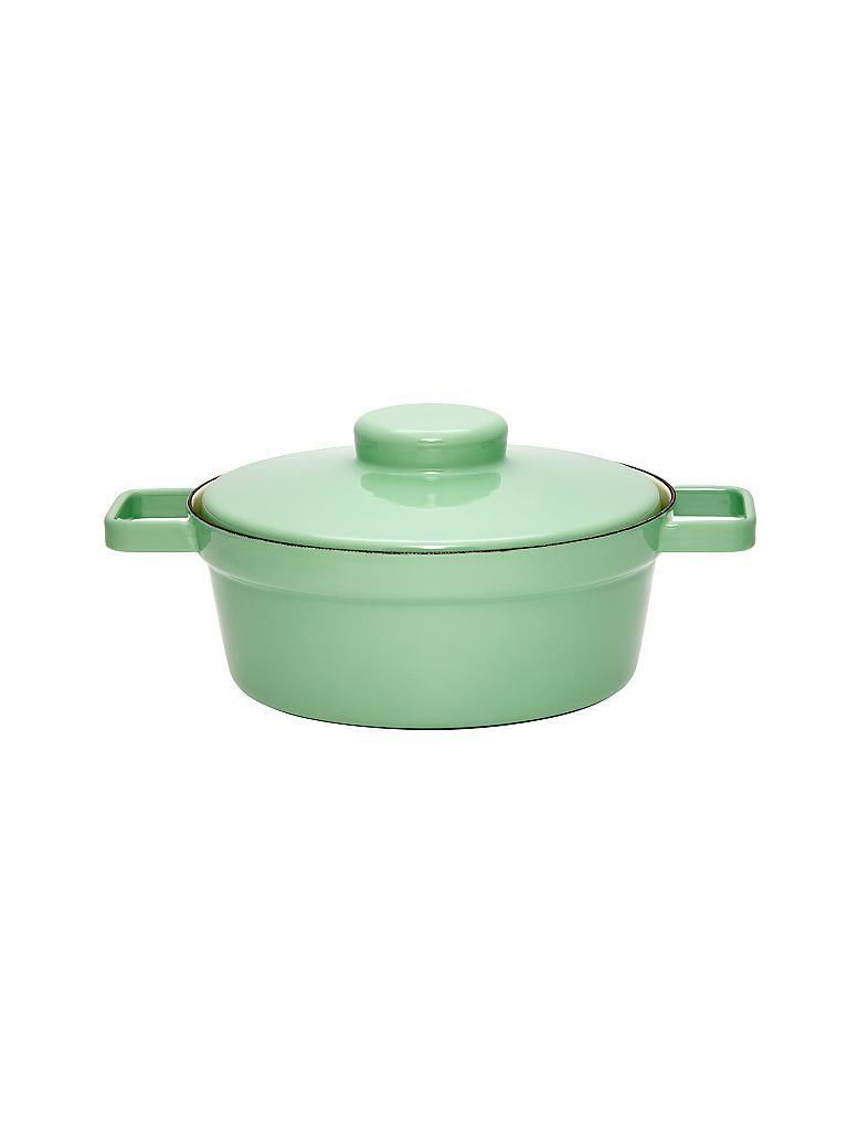 riess emaille kasserolle mit deckel aromapot truehomeware 24cm 2l gr n. Black Bedroom Furniture Sets. Home Design Ideas