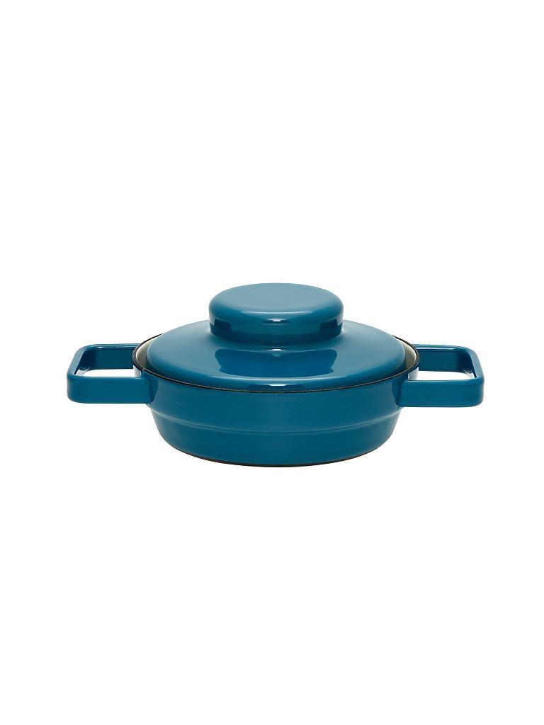 riess emaille pfanne mit deckel aromapot truehomewear 16cm blau. Black Bedroom Furniture Sets. Home Design Ideas