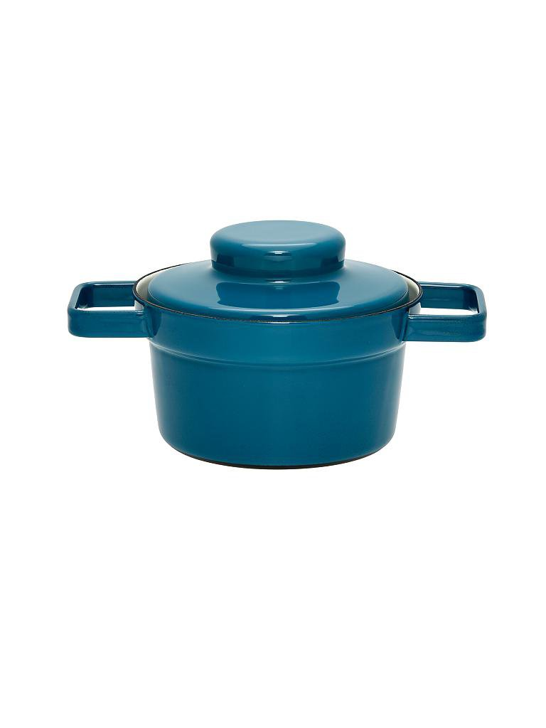 riess emaille topf mit deckel aromapot truehomeware 16cm 0 75l blau. Black Bedroom Furniture Sets. Home Design Ideas