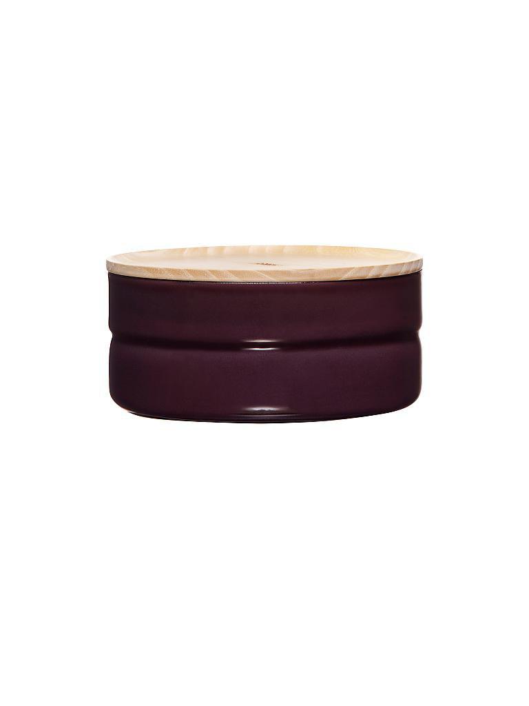 riess emaille vorratsdose mit eschenholz deckel truehomewear 6cm 615ml lila. Black Bedroom Furniture Sets. Home Design Ideas