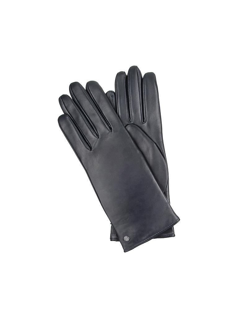 roeckl lederhandschuhe blau 6 5. Black Bedroom Furniture Sets. Home Design Ideas