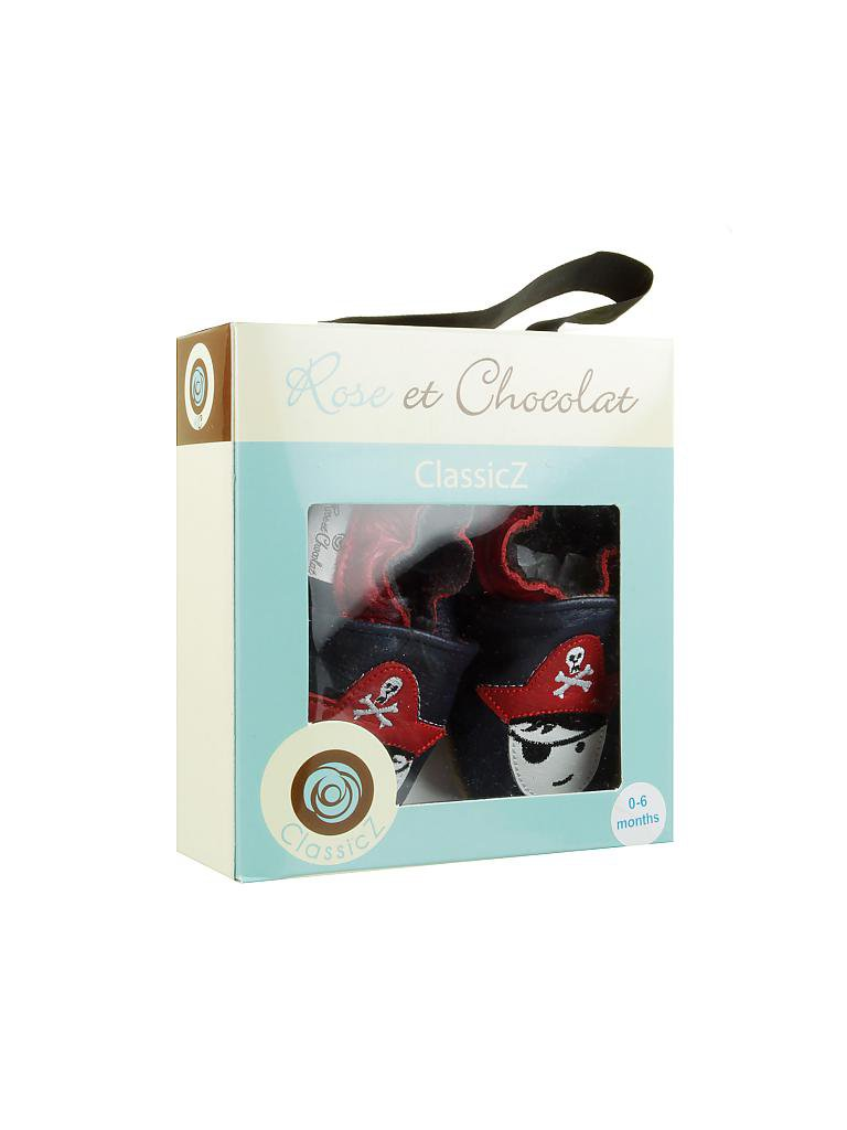 "ROSE ET CHOCOLAT | Knaben-Krabbelschuhe ""Captain Hook"" 