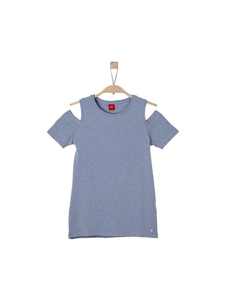 S.OLIVER Mädchen- T-Shirt Regular-Fit blau   L e2f7524535