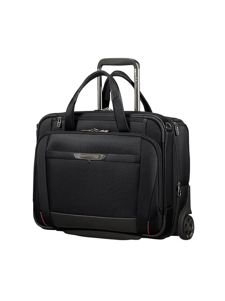 samsonite pro dlx 5 laptoptasche mit rollen 15 6 schwarz. Black Bedroom Furniture Sets. Home Design Ideas