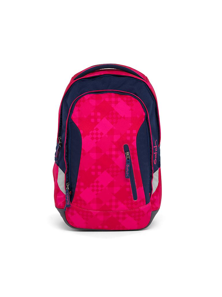 "SATCH | Schul-Rucksack ""Sleek-Cherry Checks"" 
