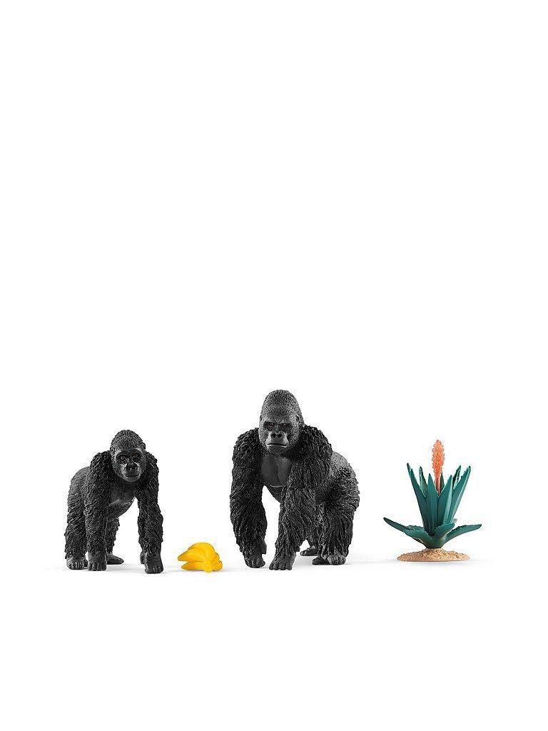 SCHLEICH Gorillas auf Futtersuche Wild Life 42382