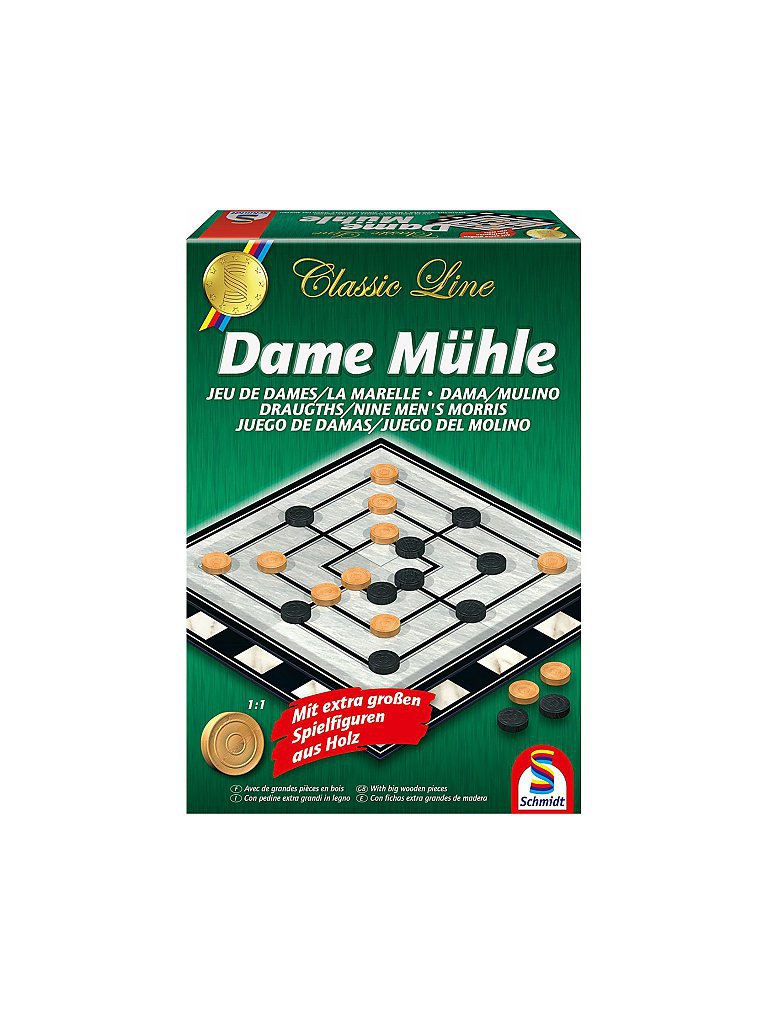 SCHMIDT-SPIELE Classic Line - Dame Mühle