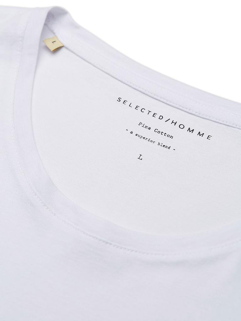 SELECTED | T-Shirt  | weiß