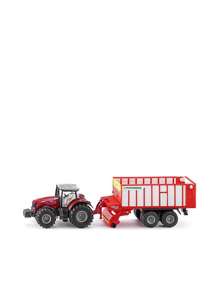 SIKU Massey Ferguson Traktor mit Pöttinger Jumbo