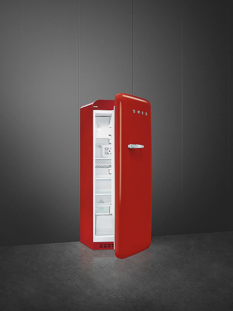 Smeg 50 S Retro Style Stand Kühlschrank 60 Cm 4 Sterne Gefrierfach Fab28rr1 Rot