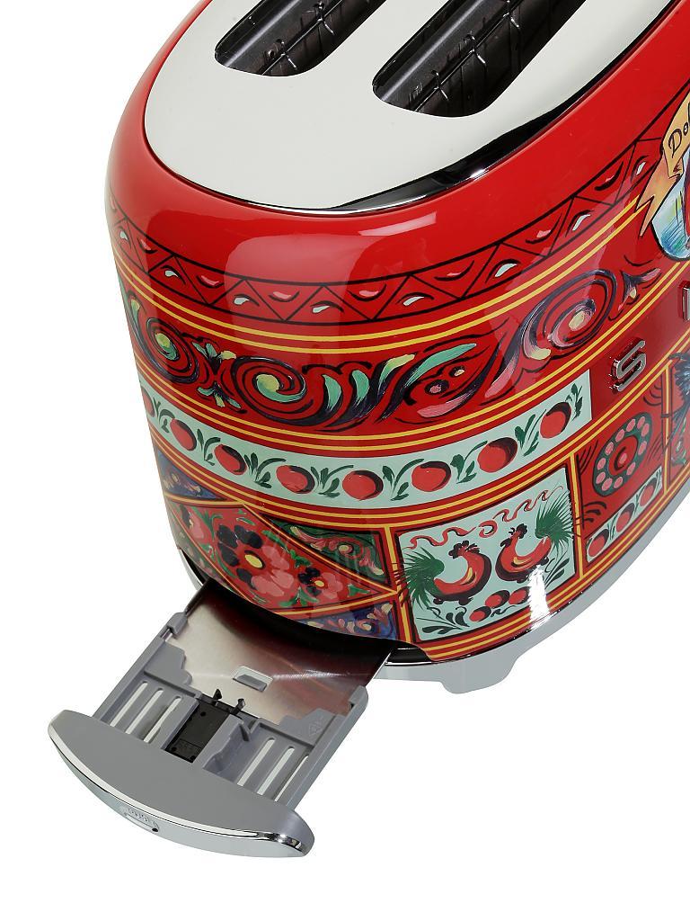 Smeg Toaster 2 Scheiben Dolce Gabbana Tsf01dg Rot Dekor Bunt
