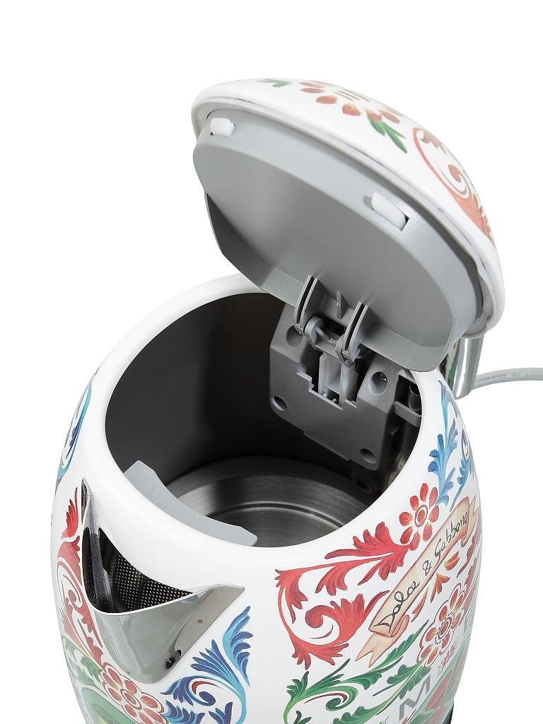 Smeg Wasserkocher 1 7l Dolce Gabbana Klf03dg Rot Dekor Bunt