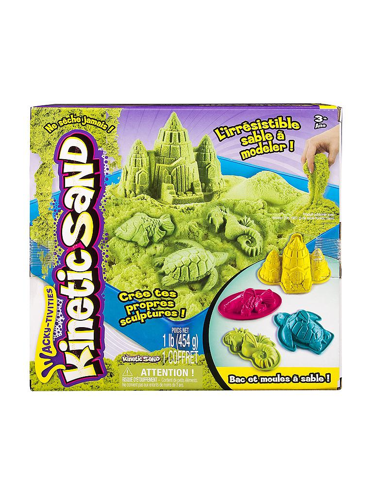 SPINMASTER | Kinetic Sand Box Set (Grün) 454g | transparent