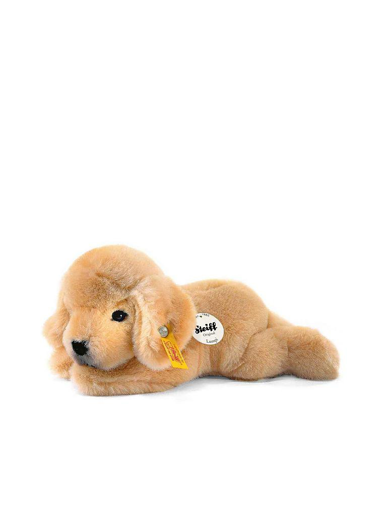 STEIFF | Golden Retriever-Welpe Lumpi (goldblond) | transparent