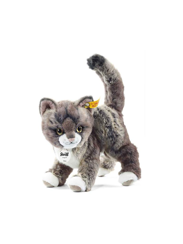 STEIFF | Kitty Katze 25cm grau/beige | transparent