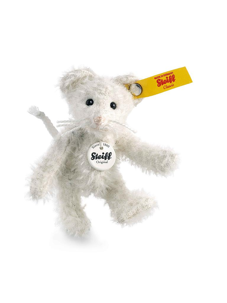 STEIFF | Maus Ted 8cm (Weiss) | transparent