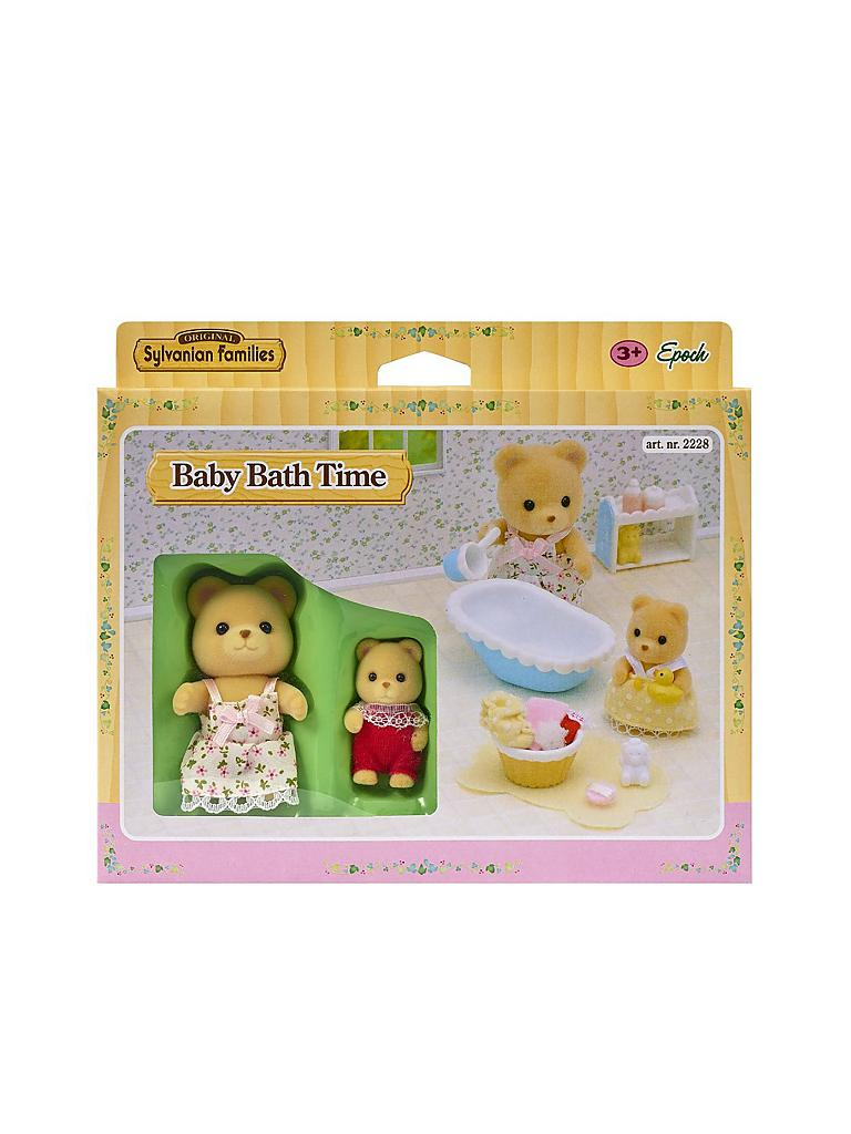 SYLVANIAN FAMILY | Baden mit Mutter und Baby | transparent