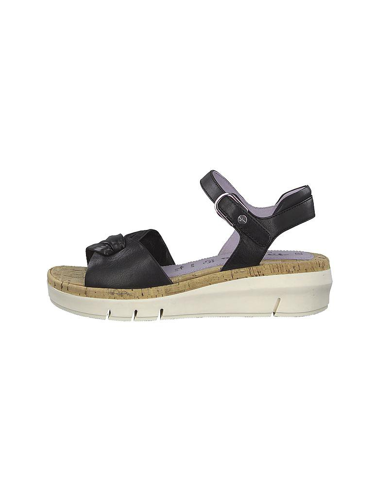 Tamaris Pure Relax Keilsandalette Damen Schwarz Schuhe