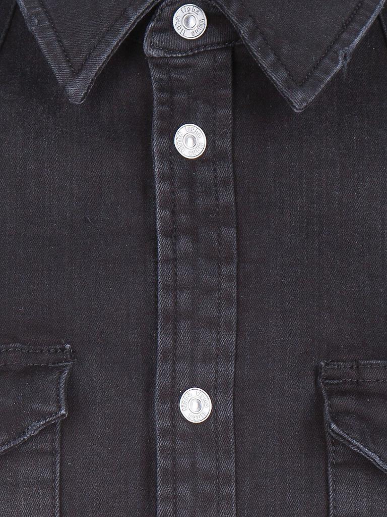tigha jeanshemd schwarz s. Black Bedroom Furniture Sets. Home Design Ideas